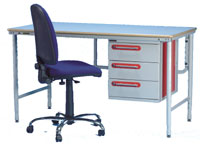A Technibench F.L. workbench with one of our chairs