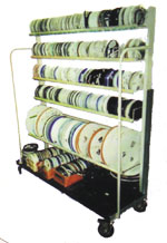 photo of a mobile reel rack